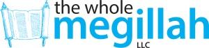 The Whole Megilah logo text scroll