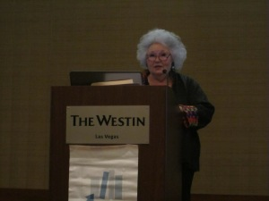 Jo Taylor speaks about her mother, Sydney Taylor, and the All-of-a-Kind Family at the 2014 AJL Conference in Las Vegas