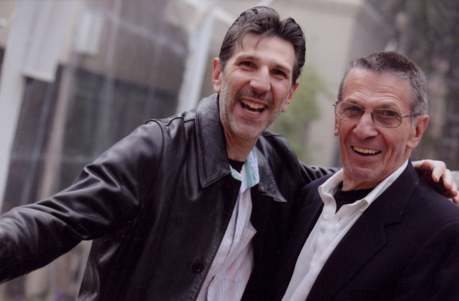 Richard Michelson and Leonard Nimoy at Nimoy's 80th birthday party. Photo: Sylvia Mautner Photography